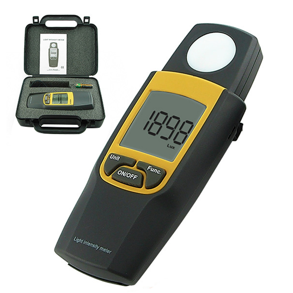 Digital Light Intensity Meter Lux & Foot Candle FTC Max Min Hold Over Range Indication Light Meter-in Level Measuring Instruments from Tools    1