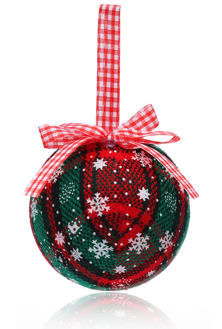 Free Shipping Christmas Decoration, 80mm Christmas Ball/Ornament Scotch Check, 3/Pack
