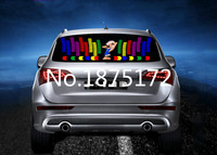 90cm * 25cm LED Colourful Flash Car Sticker Music Rhythm LED EL Sheet Light Lamp Sound Music Activated Equalizer Car styling