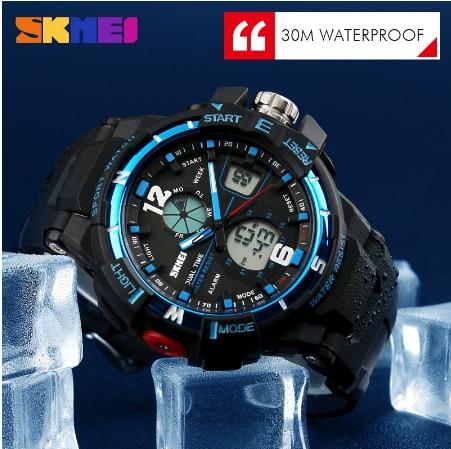 SKMEI G цифровые модные стильные мужские военные спортивные часы армейские военные наручные часы Спортивные кварцевые часы - 4