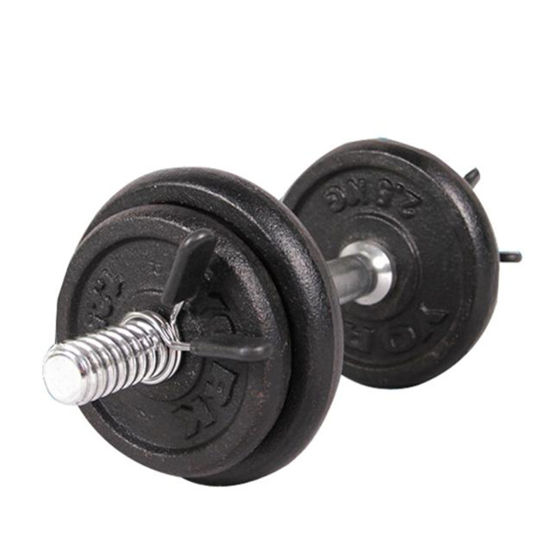 2Pcs high quality 25mm Barbell Collar Clips Gym Weight Bar Dumbbell Lock Clamp Spring Collar Clips new arrival #3n23 (2)