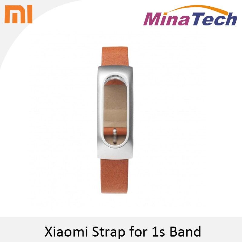 100 Original Xiaomi Mi Band Genuine Leather Wrist Strap Xiaomi Mi Band Leather Wristbands Belt with