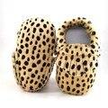 Caballo de piel de bebé mocasines Bebé Muchachos de Las Muchachas Zapatos Calientes Botas de Nieve Lindo Tejer Invierno Más Botas de Piel de Bebé primer caminante