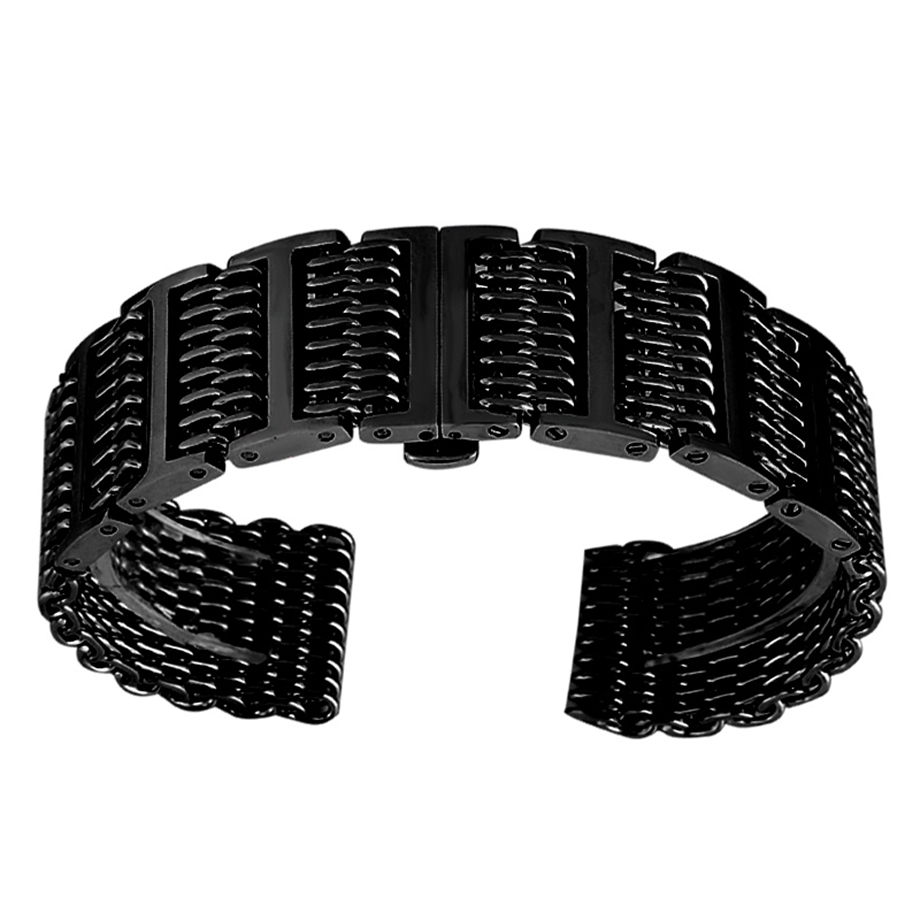100% Brand New and High Quality 20/22/24mm Watch Strap Shark Band Stainless Steel Watchband Black/Silver Color Adjustable Strap все цены