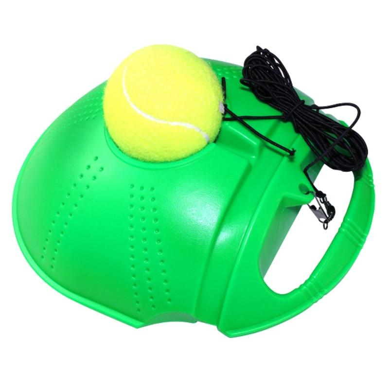 Rimbalzo tennis trainer set partner di allenamento pratica attrezzature da tennis compagno di allenamento per principianti verde orange