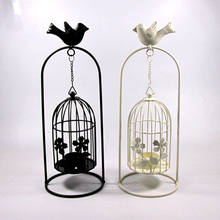 Birdcage Iron Candleholder Decorative Tealight Candle Holders Modern Home Decoration Wedding Lantern Ornaments Gifts(China)