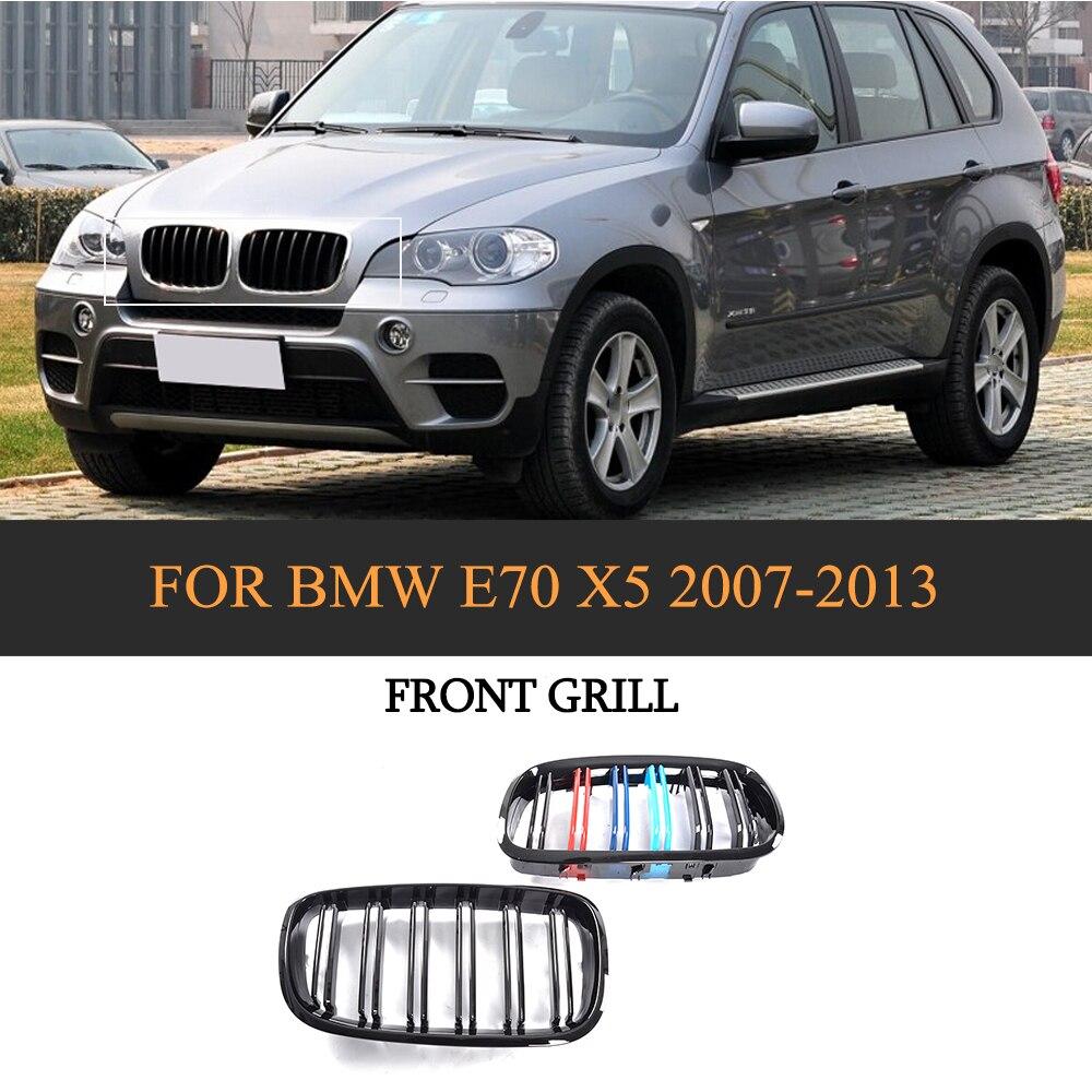 ABS Avant De la Voiture Grille Grill Pour BMW E70 X5 SUV 4 Porte 2007-2013