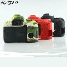 HAFEI модные камуфляжные черный, красный силиконовой резины Защитный чехол для Canon EOS 800D мягкие Камера Сумка легкий корпус SLR Обложка
