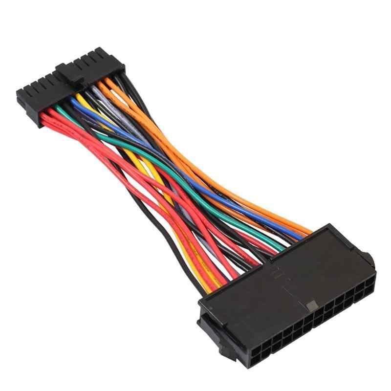1pc 24Pin kobieta do Mini 24P męski wewnętrzny zasilacz konwerter kabel drutu dla DELL 780 980 760 960 PC dopasuj typowy zasilacz ATX