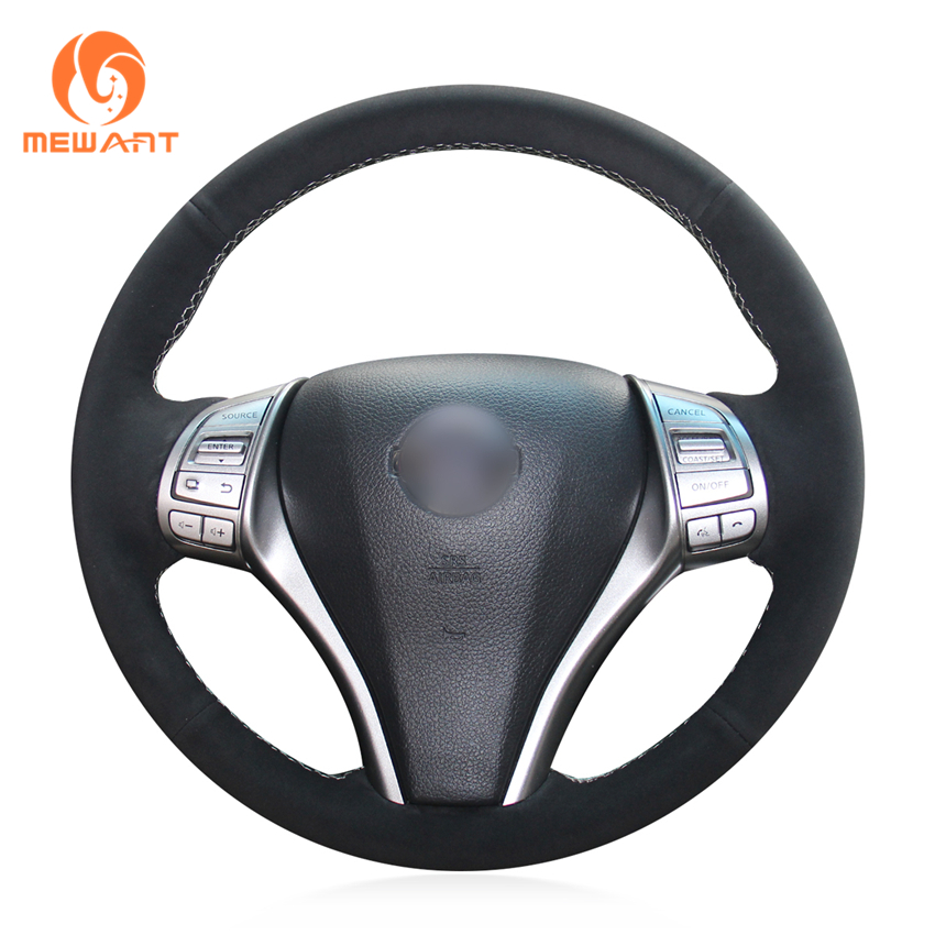 2018 Nissan Altima Interior: MEWANT Black Suede Steering Wheel Cover For Nissan Teana