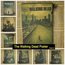 The Walking Dead аниме ТВ Старинные Ретро Крафт-Бумага Матовая Античная Плакат Стикер Стены Главная Декора часть 2