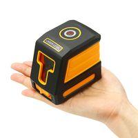 2 라인 레이저 레벨 미터 수평 수직 적십자 라인 셀프 레벨링 수신기 브래킷 클립이없는 ip54