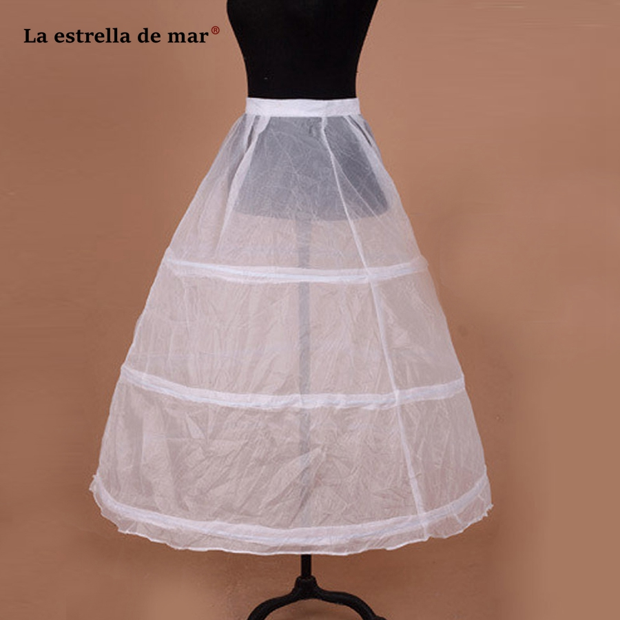 La Estrella De Mar Bridal Wedding Dress Jupon Femme White 3Hoops Hard Bottoming Fluffy Lining Skirt Wedding Accessories