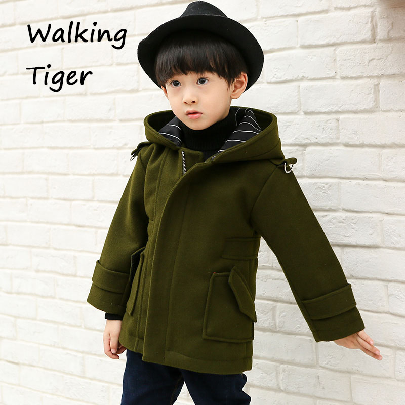 boys clothing woollen coat fashion kids  fleece jackets clothes boy winter coats 2017 children overcoat boy winter coats hot sales children clothing thickening hooded cotton jackets fashion warm baby boy coats clothes outerwear kids