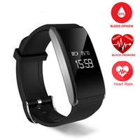 A58 Bluebooth Smart Bracelet Heart Rate Monitor Blood Oxygen Blood Pressure Fatigue Detection Fitness Tracker For