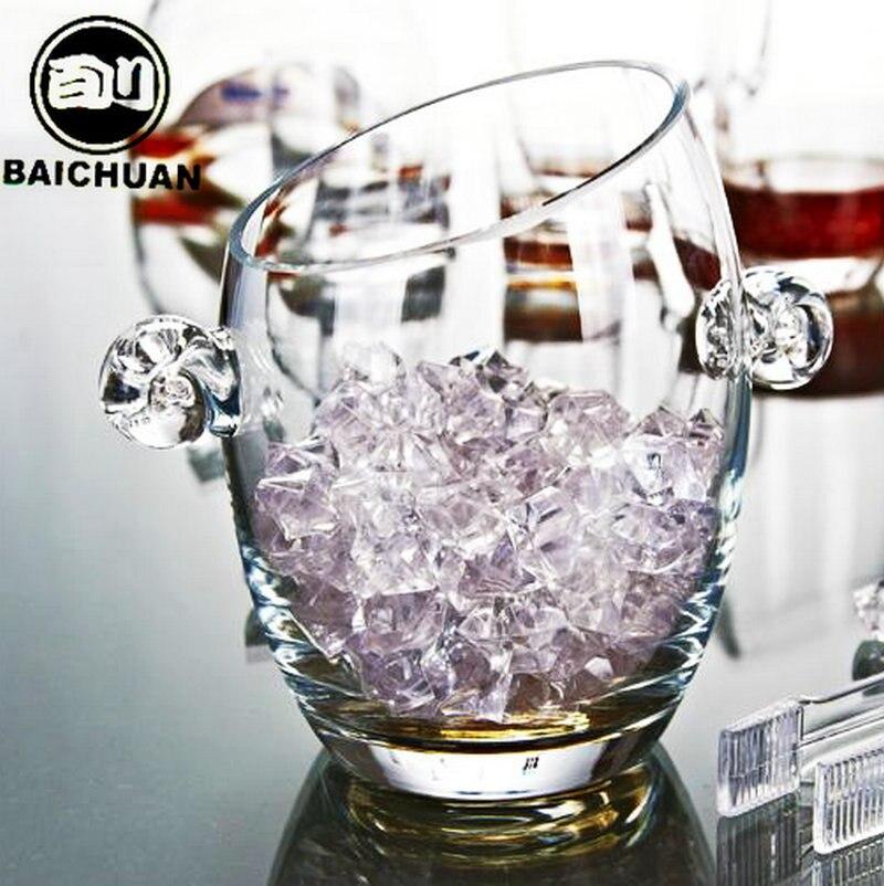 Crystal glass insulation ice bucket ice bucket champagne bucket bar supplies ice tongs large Щипцы