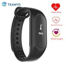 Teamyo B15S часы артериального давления кислорода фитнес-браслет Smart Pulsera inteligente монитор cardiaco Смарт Браслет Водонепроницаемый IP67