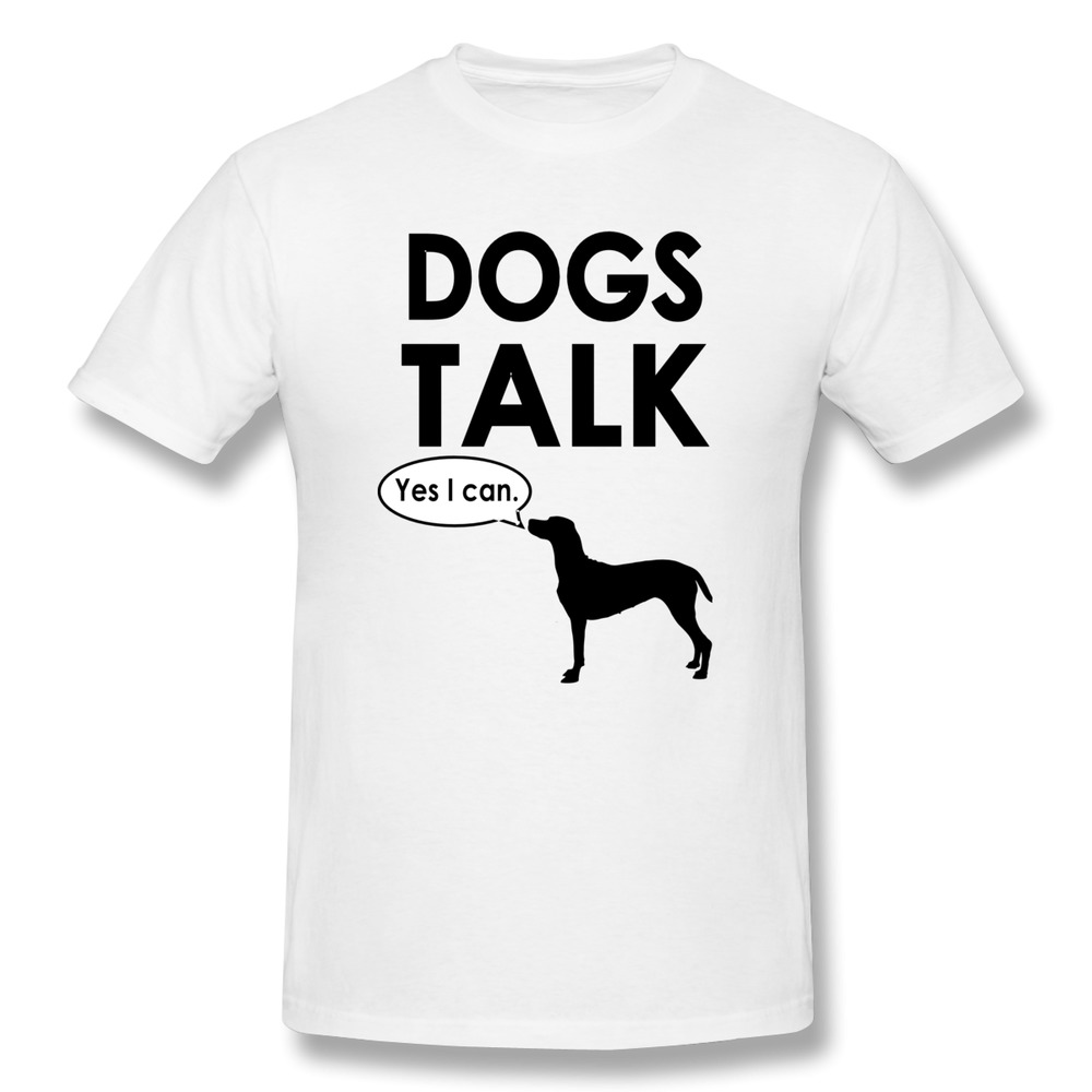 Short sleeve men t shirt dogs talk customized funny photo for Custom pet t shirts