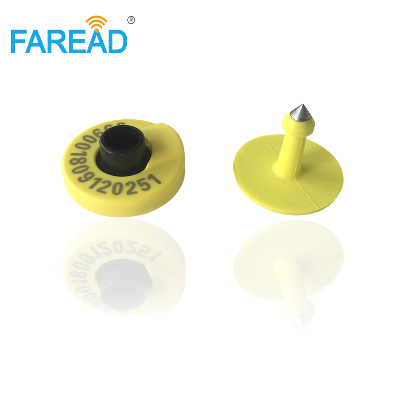 Male And Female Ear Tag 134.2KHz ISO Standard LF Passive RFID HDX Ear Tag For Animal Cattle Sheep Pig Management
