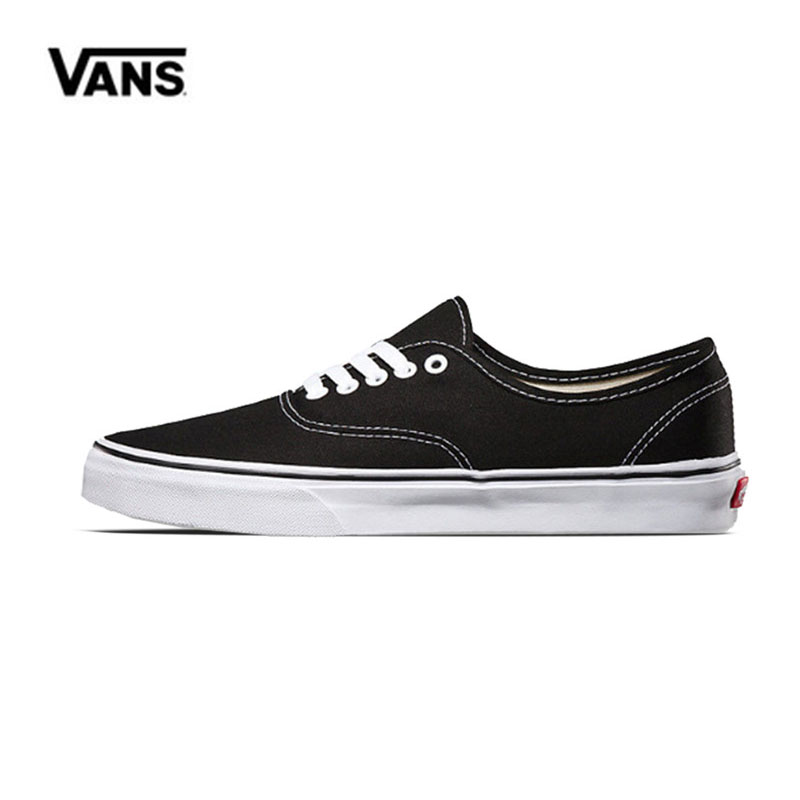 Original Vans Authentic  Low-top CLASSICS  MEN'S Skateboarding Shoes Sports Canvas  Sneakers Free Shipping VN-0EE3BLK original vans white color women skateboarding shoes sneakers beach shoes canvas shoes outdoor sports comfortable breathable