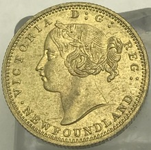1888 Canada 2 Dollars Two Hundred Cents Victoria Newfoundland Hundred Pence Gold Crafts Brass Metal Copy Coin(China)