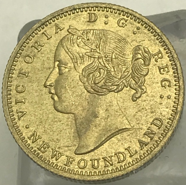 1888 Canada 2 Dollars Two Hundred Cents Victoria Newfoundland Pence Gold Crafts Br Metal Copy Coin