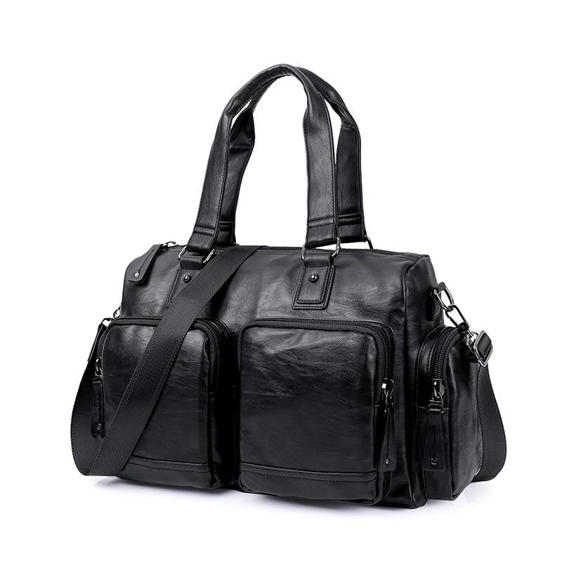 fonction Sac Haute marron Multi À D'affaires Sacs Bagages Grand De Vintage Classique Luxe Main Hommes Noir Voyage Qualité Duffle HqS8zAwz