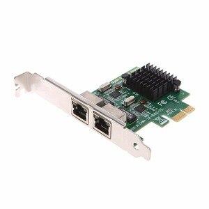 Image 2 - Dual Port PCI Express PCI E X1 Gigabit karta sieciowa Ethernet 10/100/1000 mb/s Adapter LAN wysokiej jakości