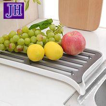 Küche Ablassen Rack Hohe Qualität multifunktionale Regal Plastikschale Speicher Mode Gemüse und obst ablauf regale storage