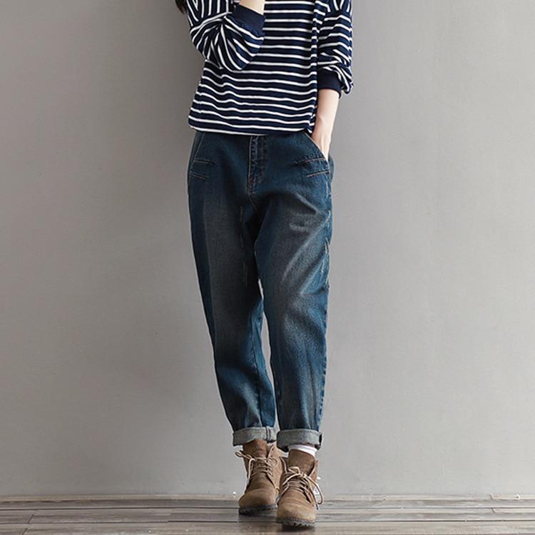 LYFZOUS Mid Waist Loose   Jeans   Fashion Casual Harem Pants Female Denim Trousers Pants For Woman 2018 Autumn New Big Sizes