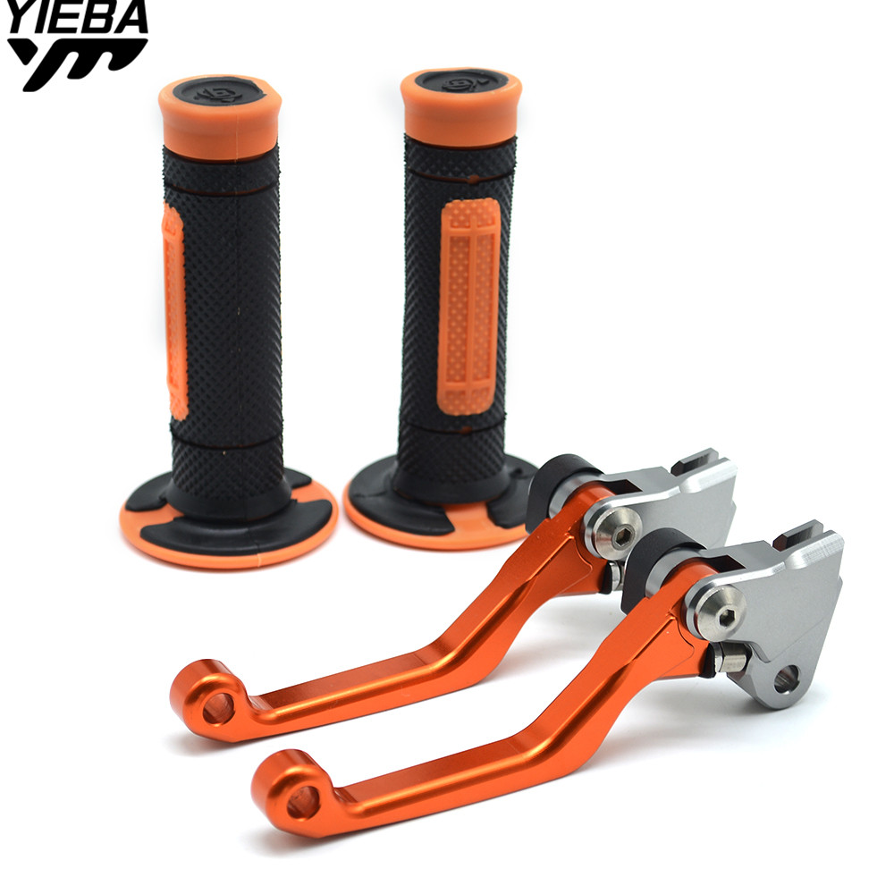 CNC Pivot Brake Clutch Levers Dirt Bike Motorcycle Handle Hand Grips Set For KTM 125SX 125EXC (SIX DAYS) 125 SX EXC 2005-2008