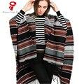 Cachecol 2016 Inverno Cobertor quente Do Vintage das Mulheres De Luxo Da Marca Senhora xale grande porte ponchos e capas xale feminino LIC para mulheres