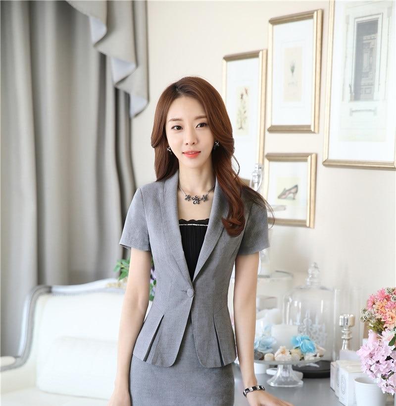 Plus Size Formale OL Stile Professionelle Sommer Blazer Business Frauen Tops  Blaser Weibliche Kleidung Blazer Mantel Outwear Red in Plus Size Formale OL  ... e6b2999e58
