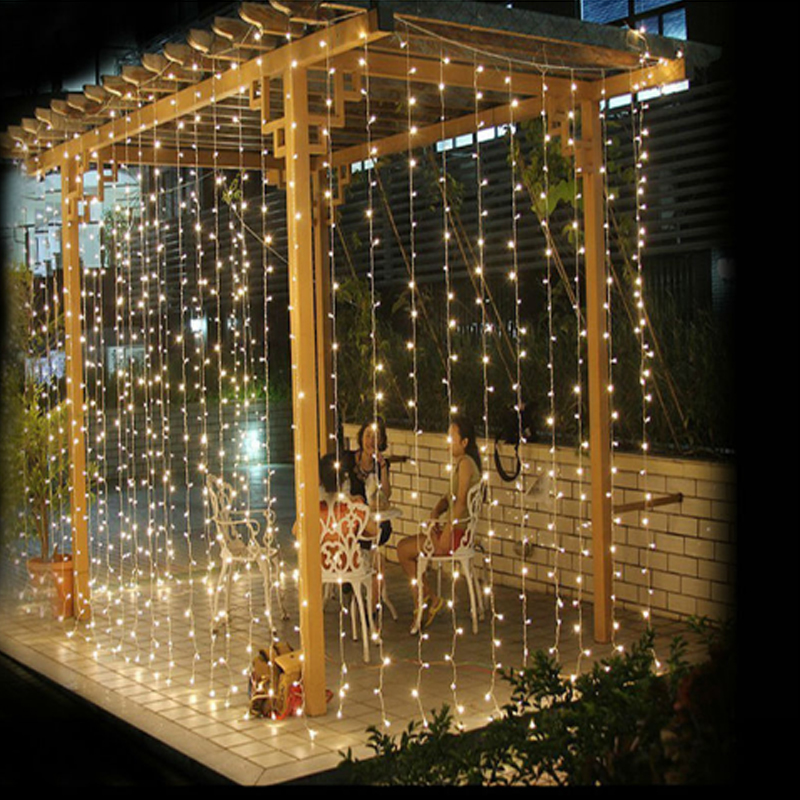 2017 4.5M x 3M 300 LED Outdoor Home <font><b>Warm</b></font> <font><b>White</b></font> Christmas Decorative xmas String Fairy Curtain Garlands Party <font><b>Lights</b></font> For Wedding