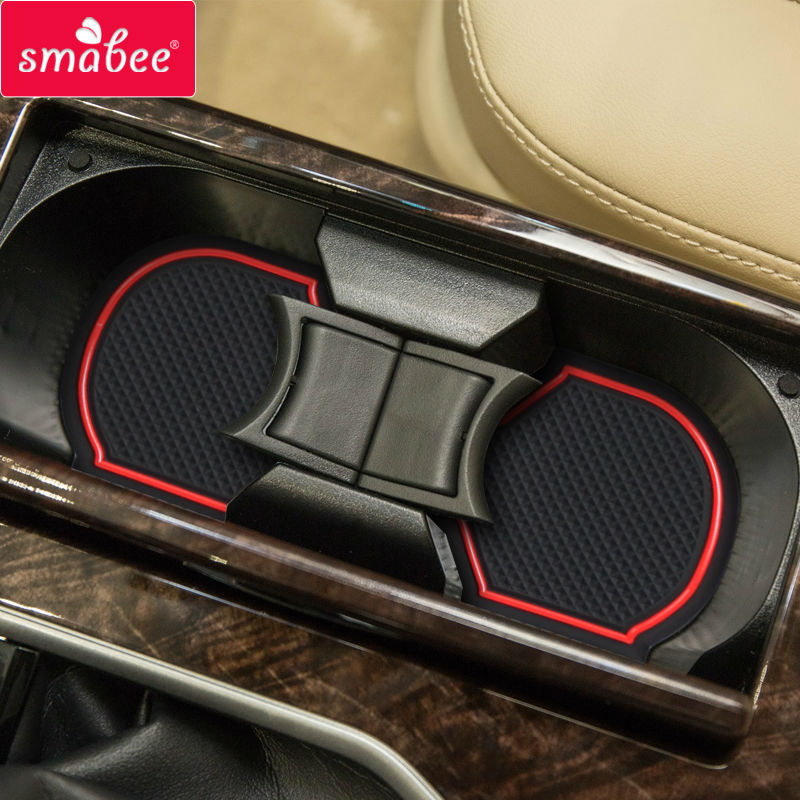 smabee Gate slot mats For TOYOTA CAMRY 7 2014-2016 Interior Door Pad/Cup Non-slip CAMRY7 red/blue/white 13pcs