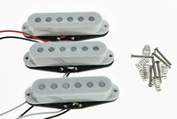 KAISH 3x N M B White Alnico 5 Single Coil Pickups High Output Sound Strat SSS