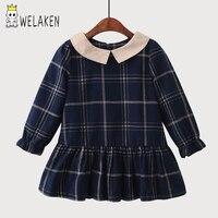 WeLaken 2018 New Hot Girl S Dress Casual Plaid Pattern Cute Kids Baby Outwear Spring Autumn