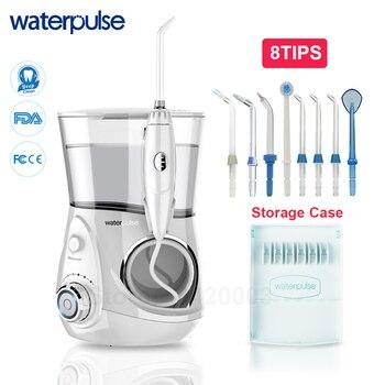 Waterpulse V660 Pro 8 dysze jamy ustnej irygator ustnej 12 ciśnienia nici masaż Dental Water elektryczny Flosser irygator jamy ustnej wody Dental
