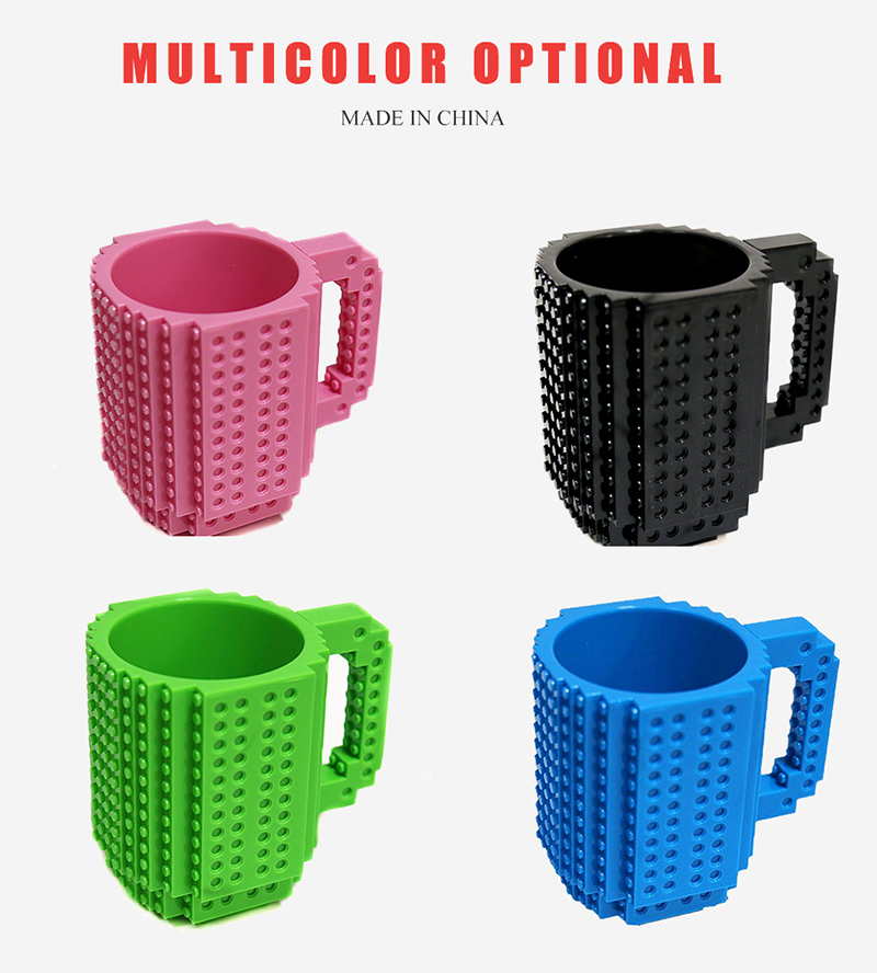 Creative Milk / Coffee Cup - Creative Build-on Brick Mug Cups - Drinking Water Holder for LEGO Building Blocks Design