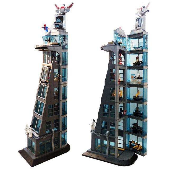 Super hero series 511Pcs Attack on Avengers Tower toys For Children Gift SH678 Building Collection Blocks Set Compatible <font><b>76038</b></font> image