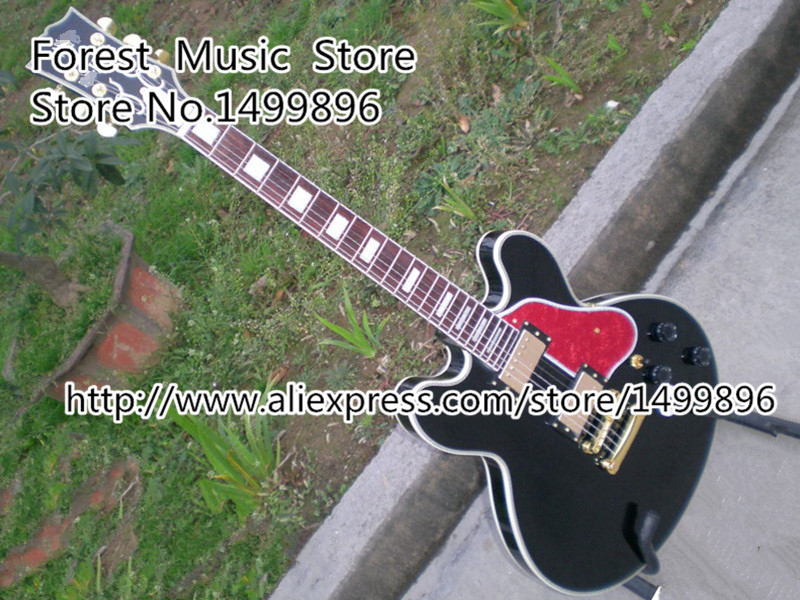 Free Shipping B.B. King Lucille Electric Guitar In Black Binding Body China Guitar Left Handed Custom Available retail new big john 7 strings single wave electric guitar brick guitar with black hardware made in china free shipping f 2020