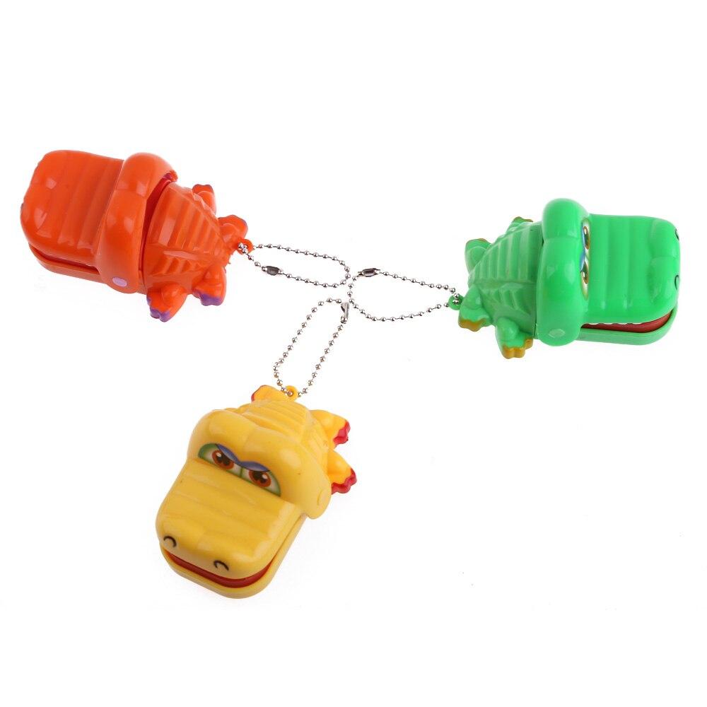 New Cartoon Animal Toy Crocodile Dentist Bite With Keychain Mouth