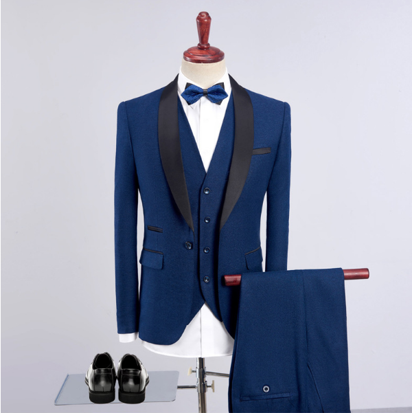 Made 2018 Tuxedo Robe Groomsman Matin Costume Pantalon Châle Prom De Mariage Avec Hommes Revers Party Un Custom Costumes PqEIw7FYcw
