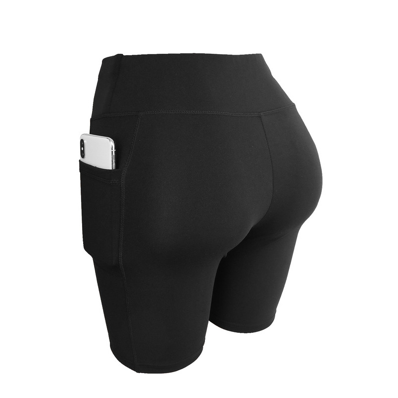 Elastic Yoga Shorts Sports Compression Athletic Gym Fitness Running Shorts Tights Leggings Five Length Trouser Women Short Pants
