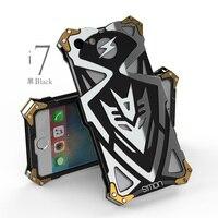 I8 más caso Diseño Original THOR IRONMAN Armadura PUNKY Gran Cantidad de Polvo de Metal De Aluminio cubierta de la caja del teléfono para iphone8 iphone 8