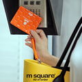 M Square Travel Credit Card Holder Wallet Visiting ID Business Card Cover For Bus Cards Bag Case With Keychain Lanyard Keyring
