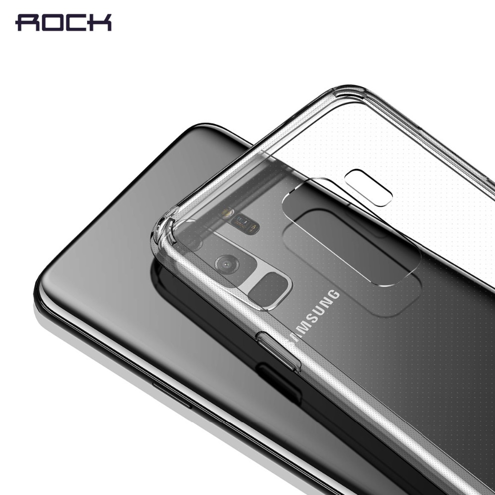 ROCK Protection Phone Case for Samsung Galaxy S9 S9 plus,Premium TPU+PC Anti-knock Phone Slim Transparent Case for Galaxy S9 S9+