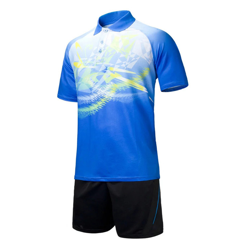 Ademende tafeltenniskleding heren jerseys polo badminton shirt en - Sportkleding en accessoires - Foto 2