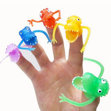 ZTOYL 10Pcs Novel Puppets Toys plastic finger puppet story Mini dinosaur toys with small finger Gashapon toys(China)