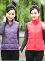 Women Autumn winter plus size shiny hooded zip down cotton sleeveless vest